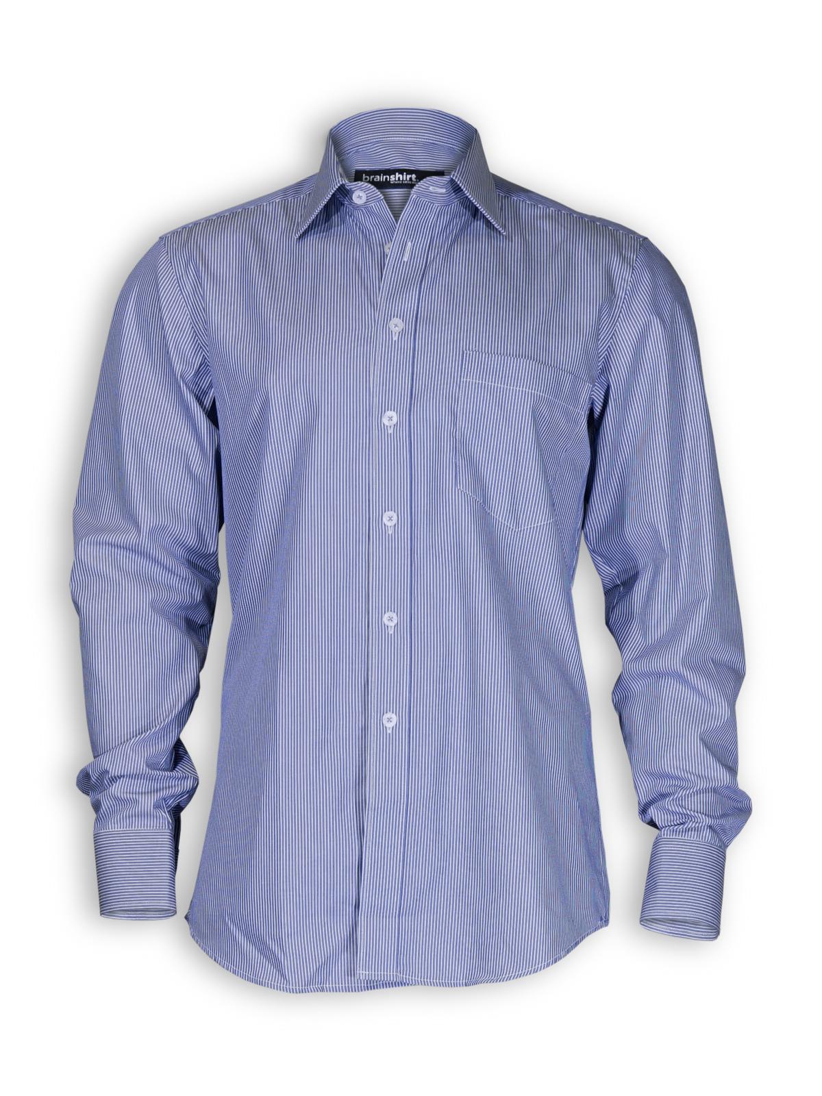 hemd stavanger von brainshirt in blau wei hemden. Black Bedroom Furniture Sets. Home Design Ideas