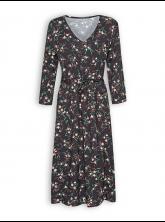 Kleid More von GreenBomb in Nightflowers black
