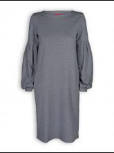 Kleid Tatjana von Lana in Yura schwarz-beton