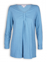 Longshirt mit Raffung von Madness in china blue