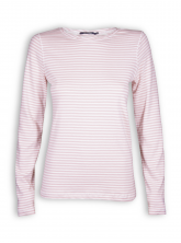 Longsleeve Basic von GreenBomb in dusty rose stripes