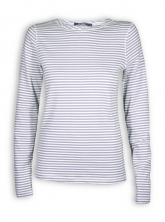 Longsleeve Basic von GreenBomb in grey stripes
