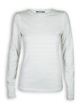 Longsleeve Basic von GreenBomb in olive stripes