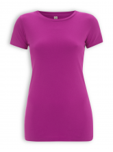 Slim Fit T-Shirt von EarthPositive in hot pink