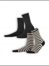 Socken Alexis (2-er Pack) von Living Crafts in black/sand