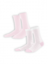 Socken Alexis (2-er Pack) von Living Crafts in rosé/white