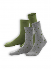 Socken Bettina (2-er Pack) von Living Crafts in cypress/dots