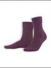 Socken Britt von Living Crafts in dark prune mouliné