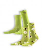 Socken Inori (2er Pack) von Living Crafts in green