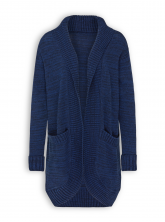 Strickcardigan von recolution in navy / midblue