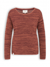 Strickpullover von recolution in autum red / warm orange