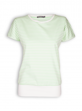 T-Shirt von GreenBomb in light green stripes