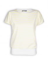 T-Shirt von GreenBomb in light yellow stripes