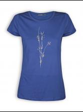 T-Shirt von GreenBomb in ocean blue mit Print Plant Fine