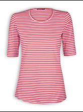 T-Shirt von GreenBomb in red/grey stripes