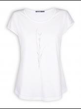 T-Shirt von GreenBomb in white mit Print Plant Fine