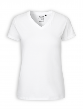 V-Neck T-Shirt von Neutral in white