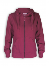 Zip Hoodie von Neutral in bordeaux