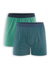 Boxer Short Ethan (2er Pack) von Living Crafts in navy/evergreen