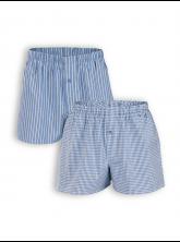 Boxer Short Gregor (2er Pack) von Living Crafts in denim blue