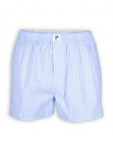 Boxershort von recolution in blau-weiß kariert