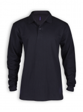 Langarm Polo Shirt von Neutral in black