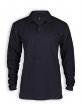 Langarm Polo Shirt von Neutral in black