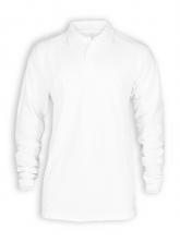 Langarm Polo Shirt von Neutral in white