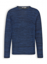 Leichter Strickpullover von recolution in navy/midblue