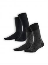 Socken Arni (2er Pack) von Living Crafts in black/anthracite