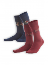 Socken Falk (2er Pack) von Living Crafts in navy/rosso