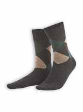 Socken Friedo (2er Pack) von Living Crafts in graphite melange