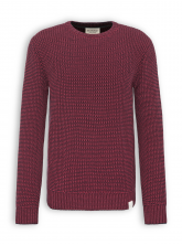 Strickpullover von recolution in biking red/navy
