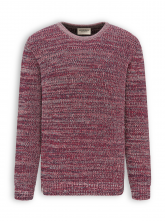 Strickpullover von recolution in biking red/navy/sand