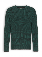 Strickpullover von recolution in dark green/black