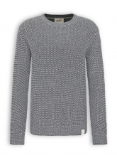 Strickpullover von recolution in glacie grey/black
