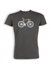 T-Shirt von GreenBomb in anthracite mit Print Bike Two
