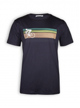 T-Shirt von GreenBomb in black mit Print Bike Speed