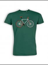 T-Shirt von GreenBomb in bottle green mit Print Bike