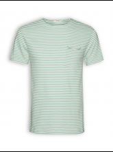 T-Shirt von GreenBomb in granite green stripes
