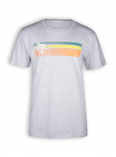 T-Shirt von GreenBomb in heather grey mit Print Bike Speed