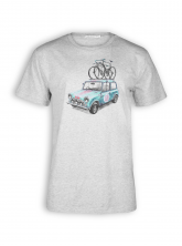 T-Shirt von GreenBomb in heather grey mit Print Bike Rallye