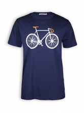 T-Shirt von GreenBomb in navy mit Print Bike Two