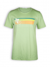 T-Shirt von GreenBomb in pale green mit Print Bike Speed