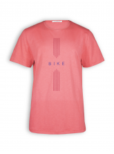 T-Shirt von GreenBomb in sun red mit Print Bike Drive