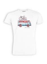 T-Shirt von GreenBomb in white mit Print Bus
