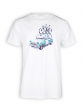 T-Shirt von GreenBomb in white mit Print Bike Rallye