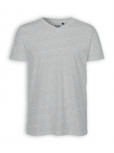 V-Neck T-Shirt von Neutral in sports grey