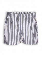 Web-Boxer von Living Crafts in dark navy striped