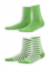 Socken Alexis (2-er Pack) von Living Crafts in lime/white